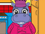 Hippo Coloring