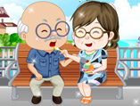 Grandparents Ice Cream Date Dress Up