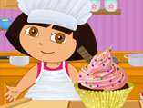 Dora Perfect Cupcake Swirl Decor
