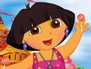 Dora Junkent To Candy Land Dressup