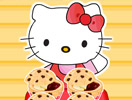 Hello Kitty's Choc-Chip Jelly Muffins
