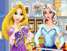 Elsa And Rapunzel Food Shopping