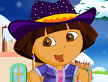 Dora the Winter Explorer Dress Up