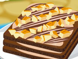 Cheese Chocolate Square Cake