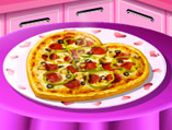 Sara's Cooking Class: Valentine Pizza